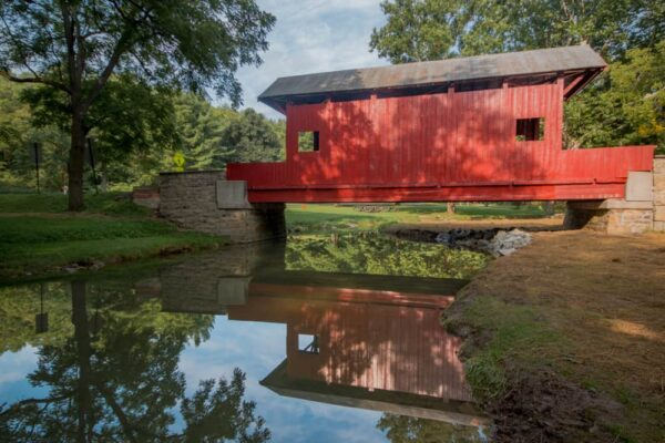 Ebenezer Covered Bridge in Mingo Creek County Park