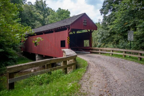 Longdon Covered Bridge is one of the most rural covered bridges in Washington County.