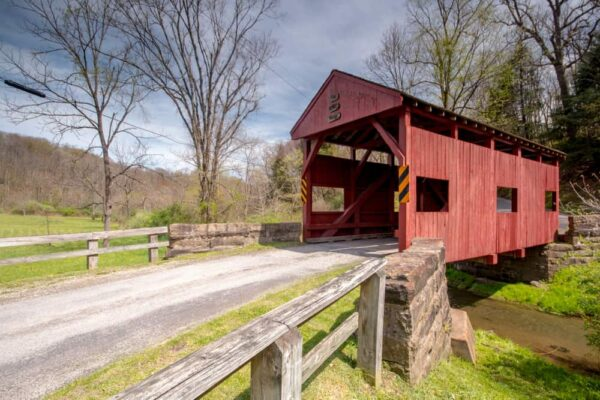 Lyle Covered Bridge in Hillman State Park