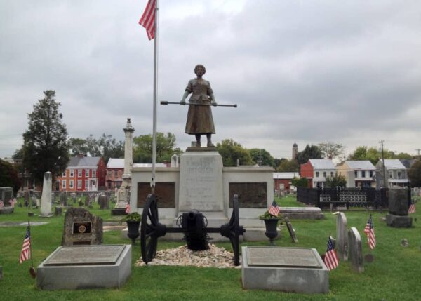 Molly Pitcher's grave near Dickinson College