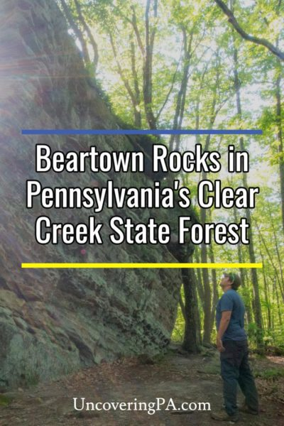 Beartown Rocks in Clear Creek State Forest