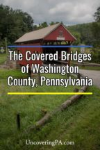 The covered bridges in Washington County, Pennsylvania