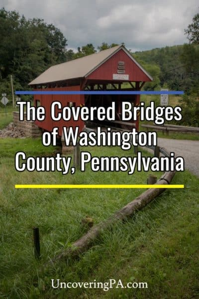 The covered bridges in Washington County, Pennsylvania