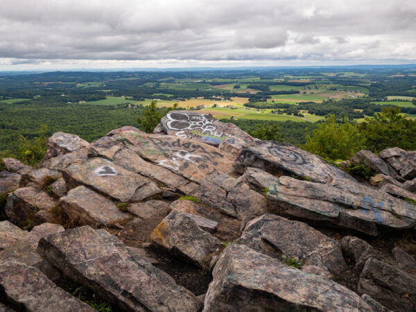 View overlooking Bake Oven Knob along the Appalachian Trail in Pennsylvania