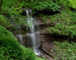 Pennsylvania Waterfalls: Braddock's Falls in Pittsburgh's Braddock's Trail Park