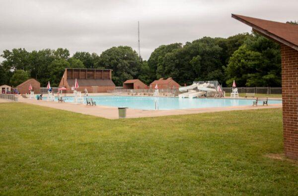 Pool at Neshaminy State Park near Philadelphia, Pennsylvania