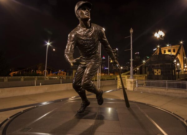 Seeing the Roberto Clemente Statue is a must while spending a sports weekend in Pittsburgh