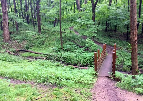 Path to vista at Braddock's Trail Park near Pittsburgh, Pennsylvania