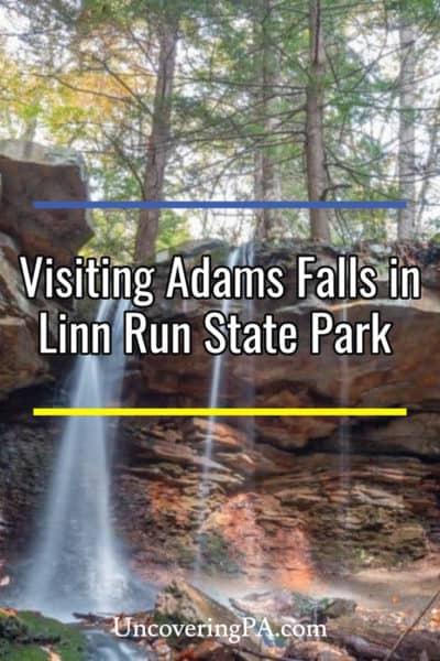 PA Waterfalls: Adams Falls in Linn Run State Park