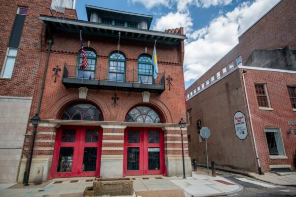 Outside of the Fireman's Hall Museum in Philadelphia's Old City