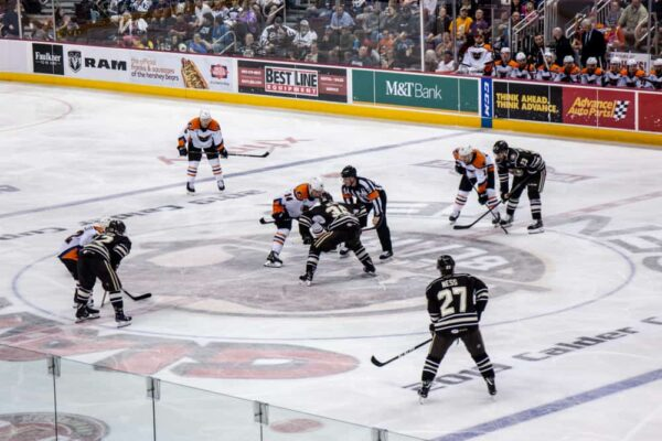 100 levels seats at a Hershey Bears' game