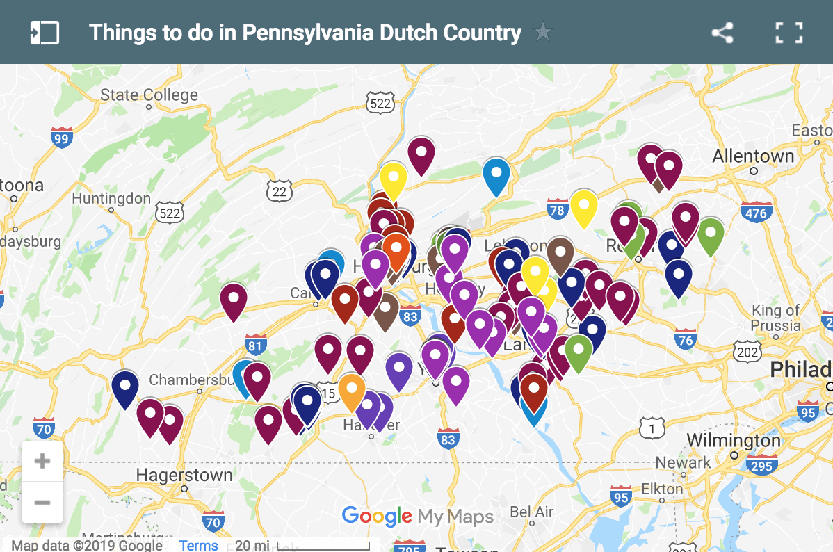 Map of PA Dutch Country