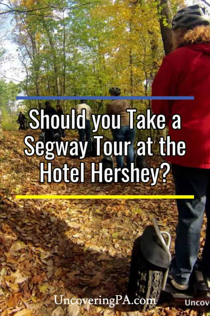 Riding at Segway at the Hotel Hershey in Hershey, Pennsylvania