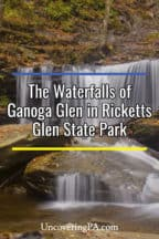 The waterfalls of Ganoga Glen at Ricketts Glen State Park