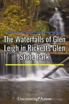 The waterfalls of Glen Lehigh at Ricketts Glen State Park