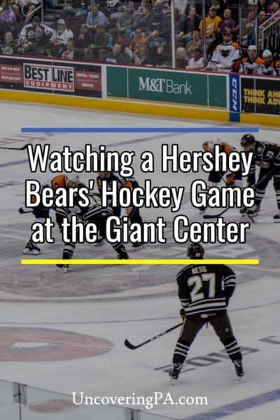 Attending a Hershey Bears' Hockey Game in Hershey, Pennsylvania