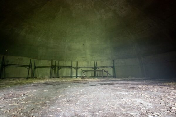 The inside of a bunker of Alvira