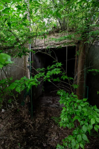 An open Alvira Bunker in Union County, PA