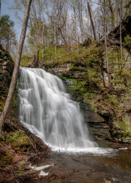 Bridal Veil Falls in Pike County, PA