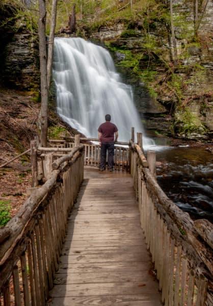Bridal Veil Falls at Bushkill Falls in Pennsylvania