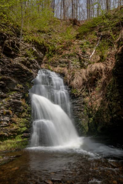 The uppermost Bridesmaid's Falls at Bushkill Falls.