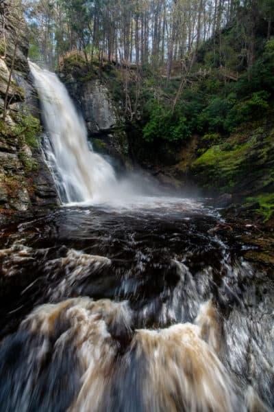 Bushkill Falls in the Pocono Mountains of Pennsylvania
