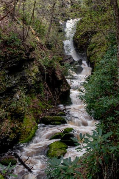 Lower Gorge Falls at Bushkill Falls