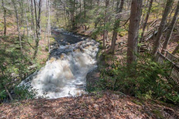 Pennell Falls at Bushkill Falls in PA
