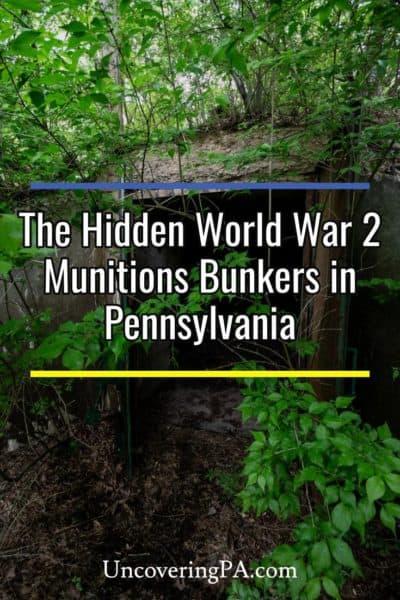 The Alvira Bunkers in Union County, Pennsylvania