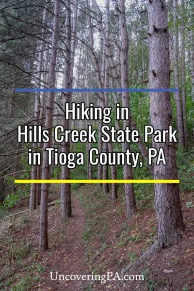 Hiking in Hills Creek State Park in Tioga County, Pennsylvania