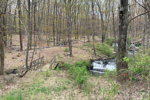 Bridge at Camp Hidden Falls in the Pocono Mountains of Pennsylvania