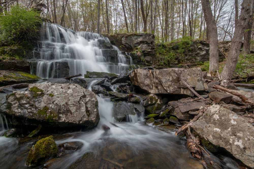 Hiking at Camp Hidden Falls in the Delaware Water Gap National Recreation Area