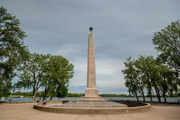 Seeing the Commodore Perry Monument is one of the best things to do in Presque Isle State Park in Erie, Pennsylvania