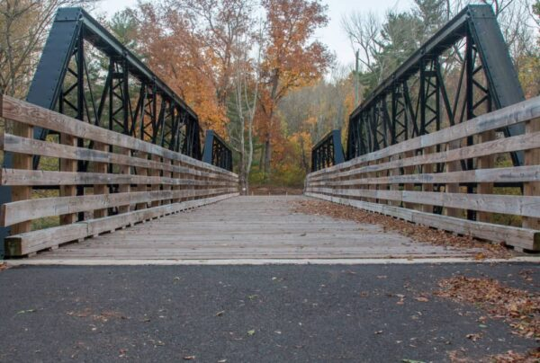 Evansburg State Park hiking trails near Philadelphia