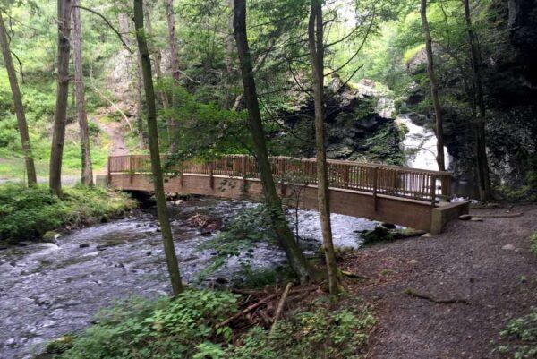 Bridge at Marshall's Falls near Stroudsburg, PA