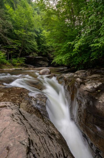 Middle Falls on Rock Run in Lycoming County, PA