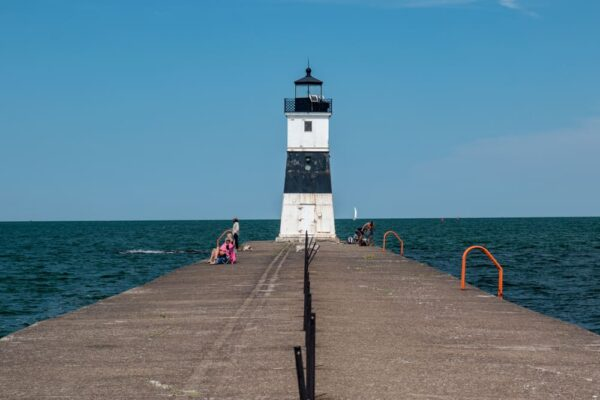 Seeing the North Pier Light in Presque Isle State Park in Erie, PA