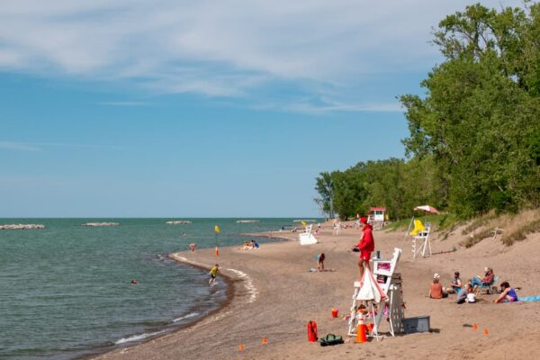 The beaches of Presque Isle State Park is one of the best things to do in Erie.