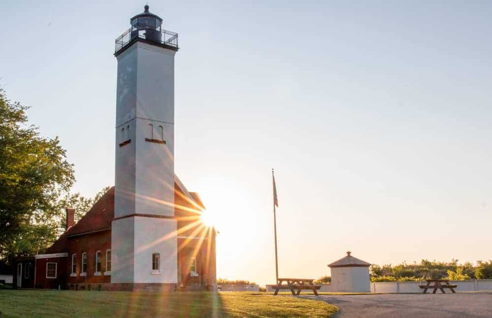 Sunset at Presque Isle Lighthouse in Erie PA