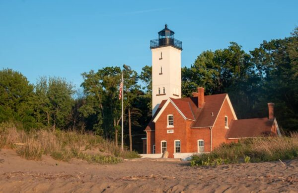 Presque Isle Lighthouse is one of the best things to do at Presque Isle State Park in Erie, PA