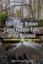 Camp Hidden Falls in the Delaware Water Gap National Recreation Area of Pennsylvania