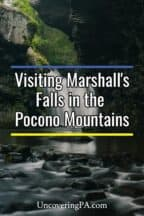 Marshall's Falls in the Poconos of Pennsylvania