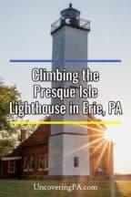 Climbing the Presque Isle Lighthouse in Erie, Pennsylvania
