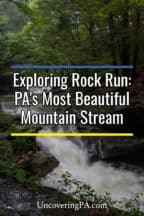 Exploring the waterfalls of Rock Run in Lycoming County, Pennsylvania