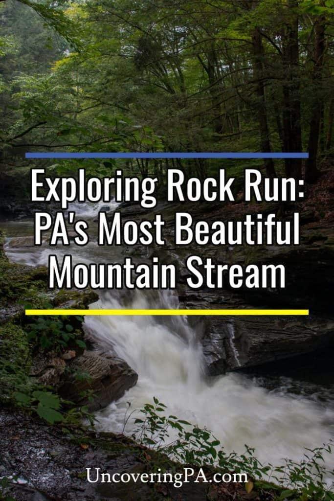 Exploring the waterfalls of Rock Run in Lycoming County, Pennsylvania