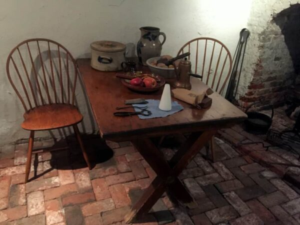 The cellar of the Betsy Ross House in Philadelphia, Pennsylvania