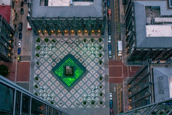 PPG Place from Above in Pittsburgh, PA