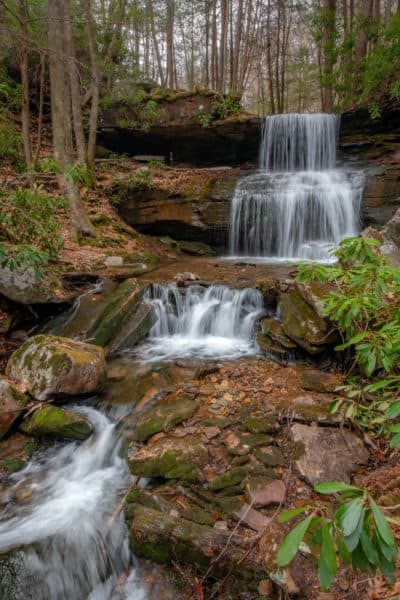 Round Island Run Falls in Sproul State Forest of PA