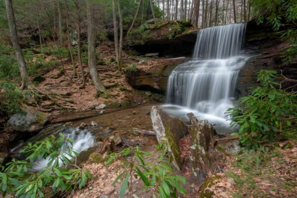 Round Island Run Falls near Quehanna Wild Area