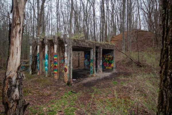 Abandoned Building in the Scotia Barrens in Pennsylvania